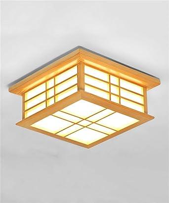 Las luces del techo de madera maciza Salón Dormitorio Balcón ...