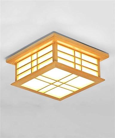 Madera maciza de encendido de las luces de techo del ...