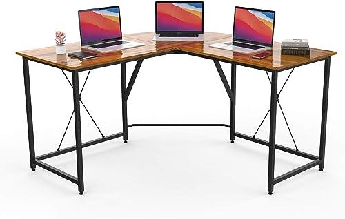 Deal of the week: Smile Back L-Shaped Desk Table Office Desk Corner Computer Desk 55 L Shaped Gaming Work Study Writing Desk