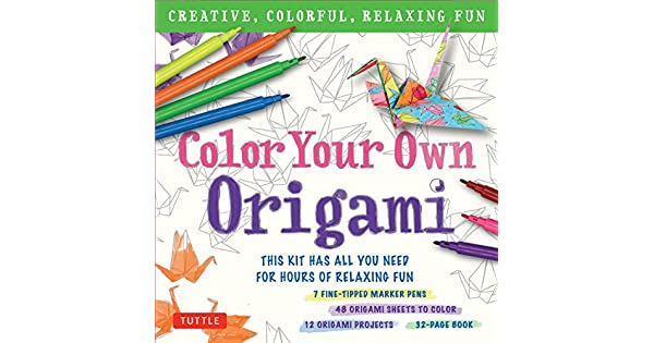 Amazon.com: Color Your Own Origami Kit: Creative, Colorful ...