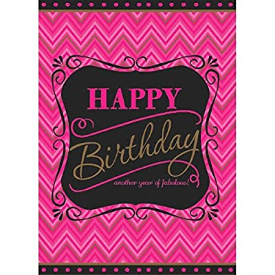 """Born to be Fabulous Birthday Party Plastic Table Cover Tableware, 54"""" x 102"""": Toys & Games"""