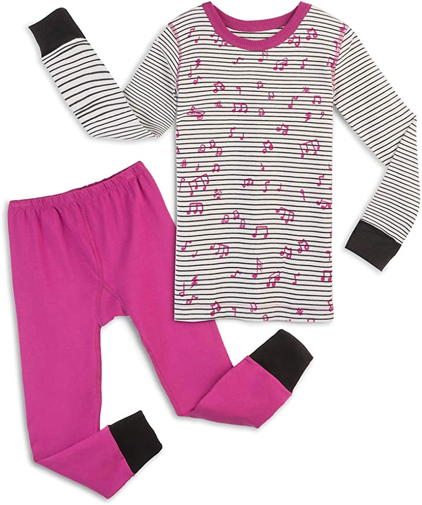 Mightly Girls Organic Cotton Footless Pajamas: Clothing