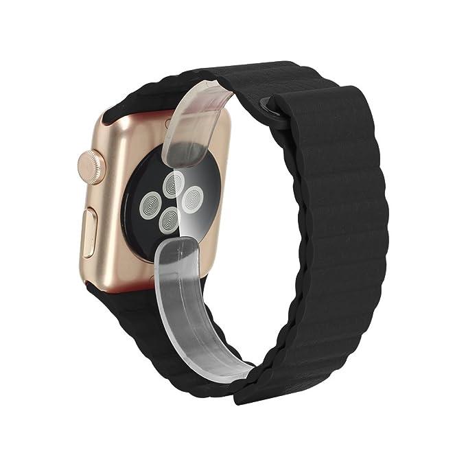 3 opinioni per Pandawell™, cinturino per Apple Watch, in vera pelle, con chiusura magnetica