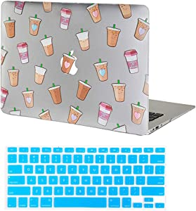 Velvet Caviar MacBook Air 13 inch Case Coffee - Fits Models A1466 & A1369 - Cute Clear Protective Hard Cases with Keyboard Cover