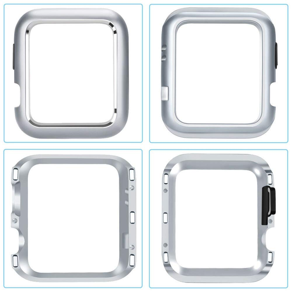CreazyDog Magnetic Frame Watch Case Protective Cover Apple Watch Series 4 40mm/44mm (Silver, 40mm) by Creazy (Image #3)