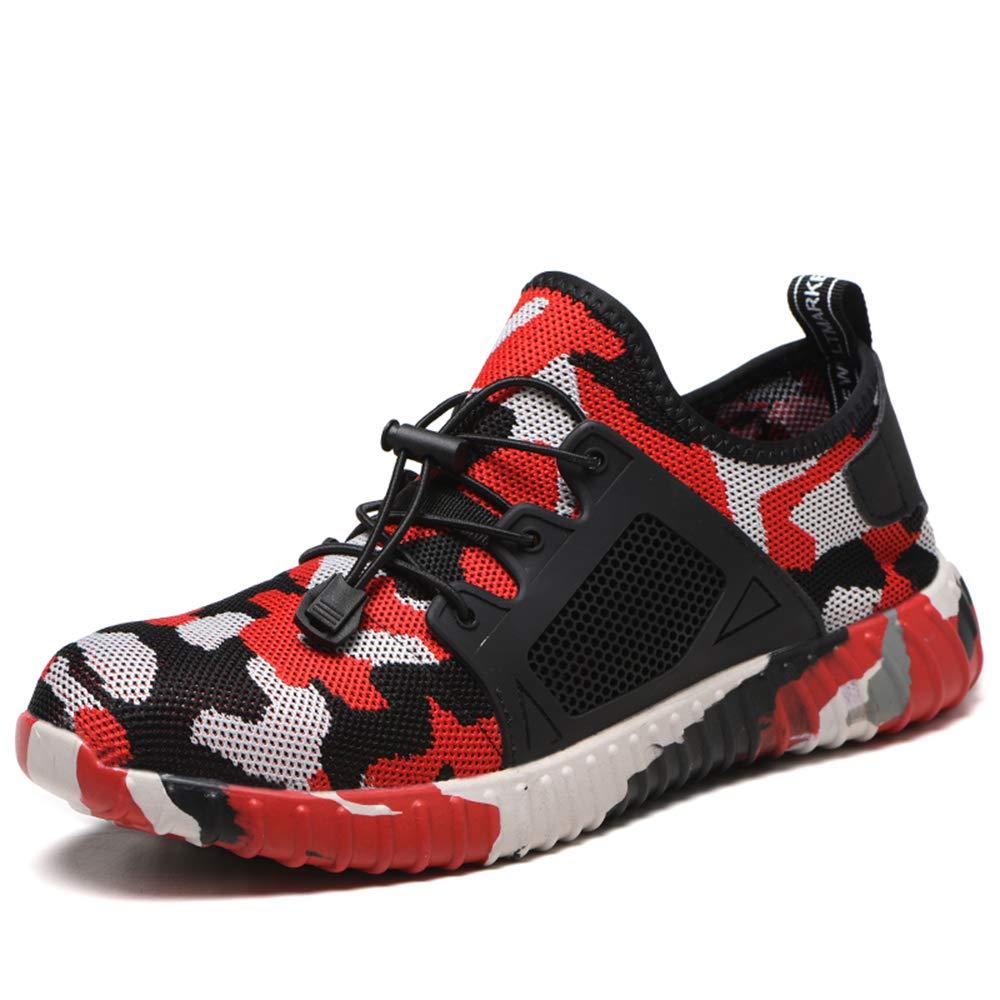 TELEGUE Chaussures de s/écurit/é pour Homme Chaussures industrielles en Acier avec Capuchon en Acier pour entra/înement l/éger pour Hommes et Femmes
