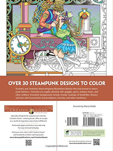 Creative Haven Steampunk Designs Coloring Book Adult