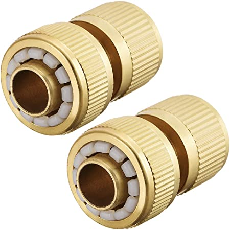 """1//2/"""" x 3//4/"""" Outdoor Solid Brass Tap and Garden Hose Adaptor inc Wall Plate"""