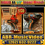 Ridgid R86010B Gen4X 1/2 Inch 2900 RPM 18V Lithium Ion Cordless Impact Wrench (Battery Not Included, Power Tool Only)