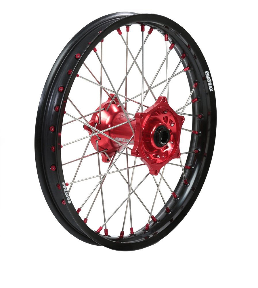 ProTrax Complete Wheel Rim Set Red Hub Front and Rear 21 /& 18