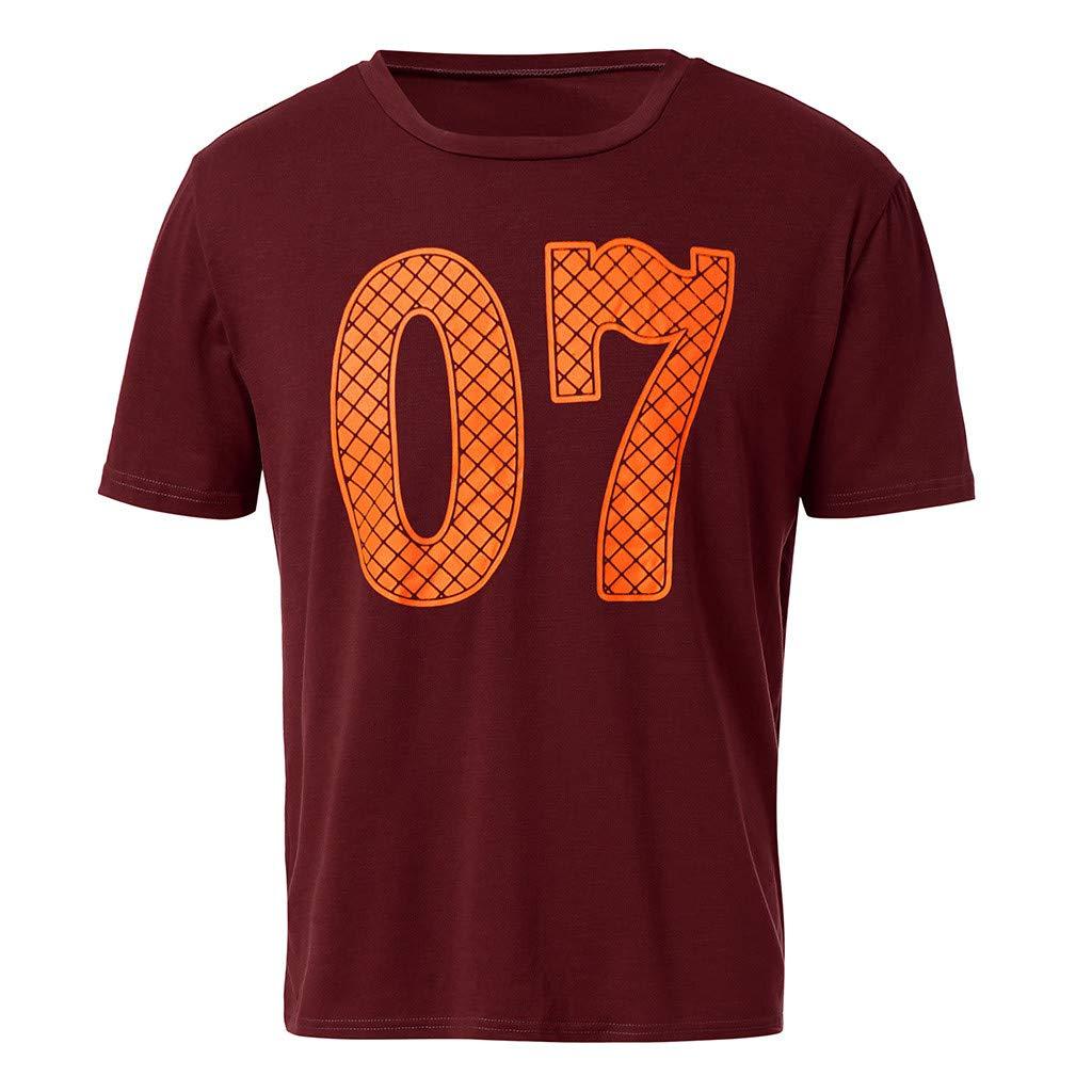 acb9798702239 YanHoo Camiseta Hombre Camuflaje Impresión tee Cuello Redondo Tops Camisa  Hombre Deportiva 2019 Ofertas Los Hombres de la Moda Informal Delgado  Impreso ...