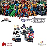 ABG Toys 8 Minifigures Marvel DC Comics Avengers Super Heroes Dr. Strange, Batzarro, Thor, Martian Manhunter, The Collector, Storm, Wonder Woman, Taskmaster Minifigure Series