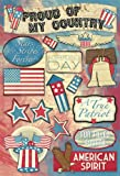 KAREN FOSTER 11500 Design Acid and Lignin Free Scrapbooking Sticker Sheet, Stars and Stripes Forever