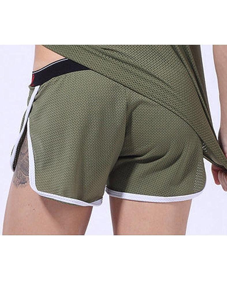 Legou Men Side Splitting Sports Boxer Shorts