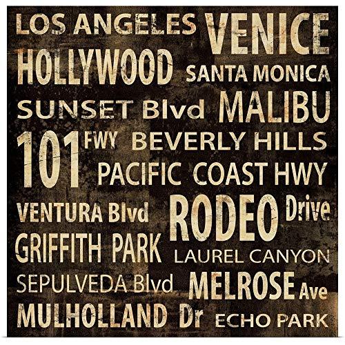 GREATBIGCANVAS Poster Print Entitled L.A by Luke Wilson -