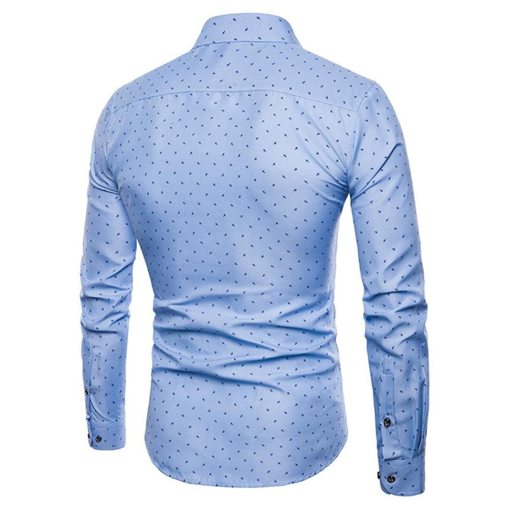 Amazon Mens Printed Dress Shirt Auwer Cotton Casual Long