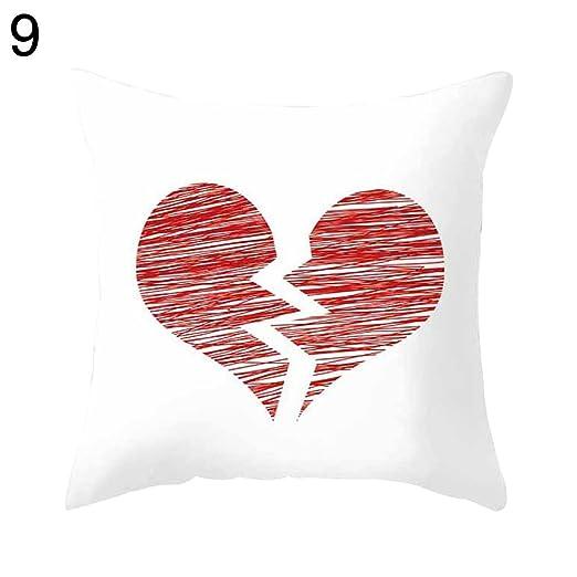 rycnet - Funda de cojín, diseño de corazón romántico con ...