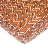 ice cream crib sheet - Glenna Jean Happy Camper Fitted Sheet, Orange Print