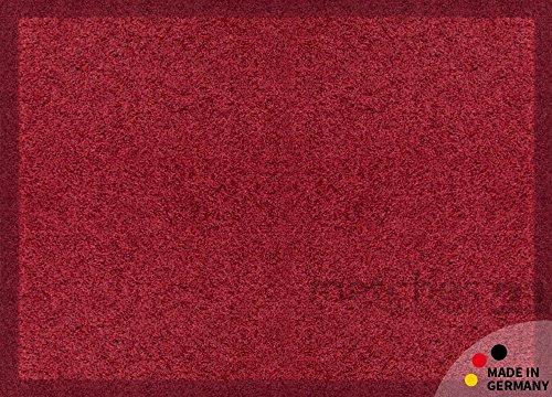 Fußmatte Fußabstreifer schmutzabsorbierend Schmutzfangmatte Uni einfarbig weinrot bordeaux 40x60 cm maschinenwaschbar