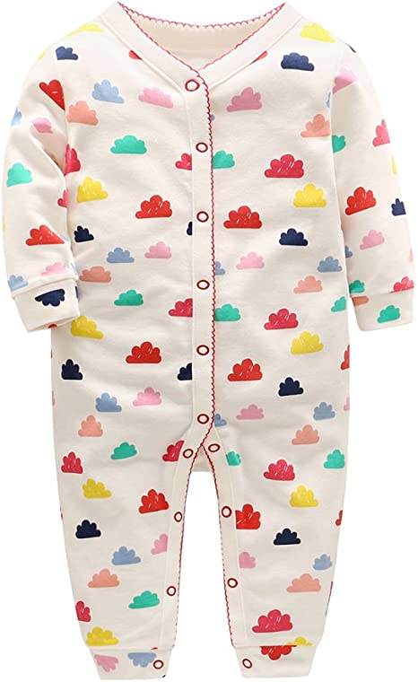 Recién nacido Pijama Bebés Algodón Mameluco Niñas Niños Pelele Sleepsuit Caricatura Trajes 3-6 Meses: Amazon.es: Bebé
