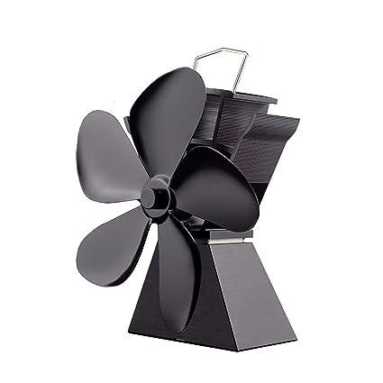 Premium 5 cuchillas con calefacción ventilador de la estufa de ahorro de combustible ahorro sólido ventilador