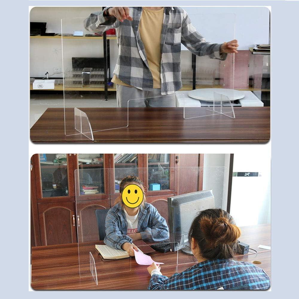 Pantalla Antiestornudos 3.6mm Pantalla ProteccióN Mostrador Mampara Mostradores De Tiendas Separador Transparente Con Ventana Mostradores Y Ventillas De Transacciones: Amazon.es: Oficina y papelería