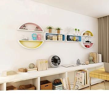 Juli Wandregale 2 Sätze Von Kreisförmigen Partition Wohnzimmer TV  Hintergrund Wand Regal Bücherregal Trennwand