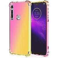 EasyLifeGo Funda Motorola G8 Plus, Transparente Carcasa para móvil de TPU con diseño Bicolor con Absorción de Choque Cojín de Esquina Parachoques Carcasa de telefono -[Rosa Oro]