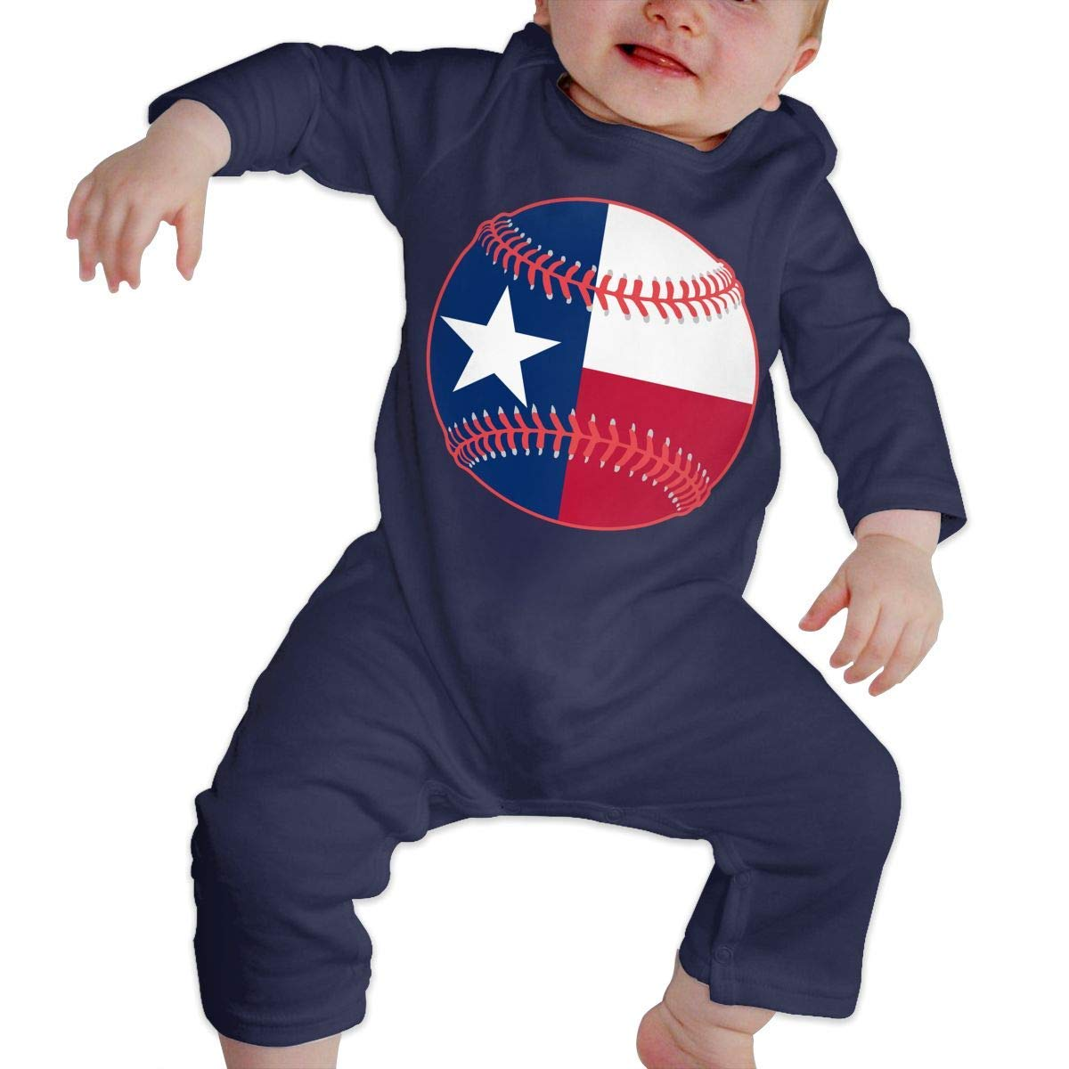 TYLER DEAN Baby Boy Jumpsuit Texas Flag Baseball Clipart Baby Clothes