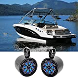 "Best Kicker Sound Quality Speakers - Pair KICKER 45KM84L 8"" 600 Watt Marine Boat Review"