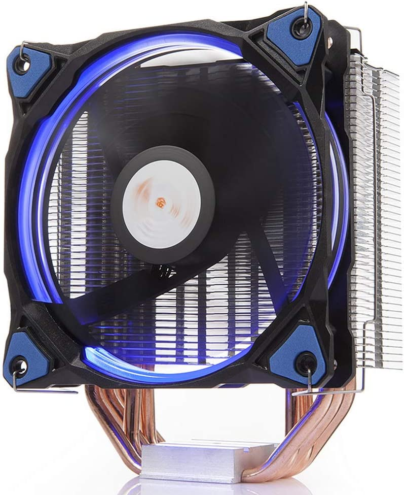 GOLDEN FIELD PBZ4 CPU Cooler CPU Fan PC Radiator Heatsink with 5 Heatpipes & 120mm LED Fan Low Noise CPU Air Cooler for Intel & AMD