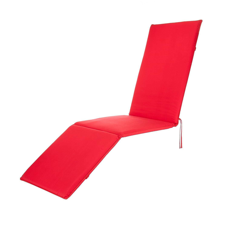 Garden Steamer Deck Chair Lounger Cushion Choice of Colours (Black) Alfresia