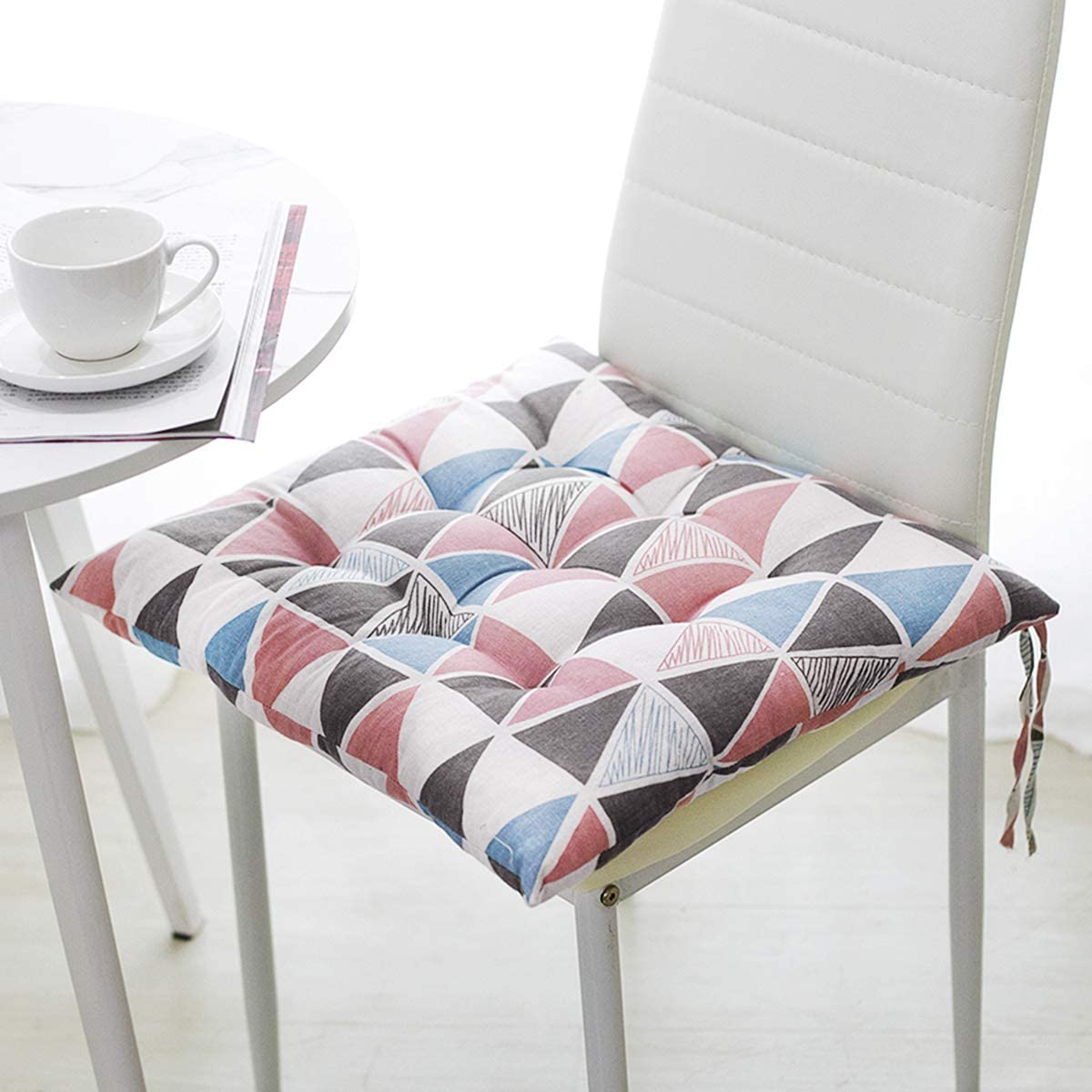 Super Soft Plush Chair Cushion with Tie Winter Warm Chair Pads Home Dining  Chair Decorative Anti-Skid Seat Pad Cover Cushion Mat for Office Home