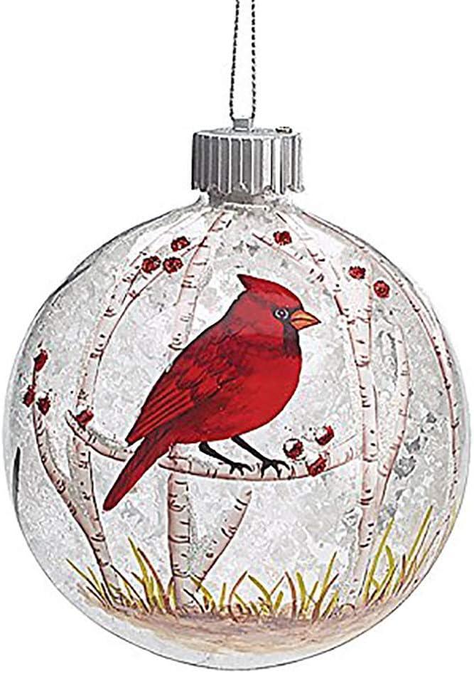 Amazon Com Burton And Burton 9727670 Led Red Cardinal Christmas Ornament Multicolor Home Kitchen