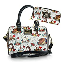 Disney Beauty and the Beast Tattoo Tote Bag & Wallet Set