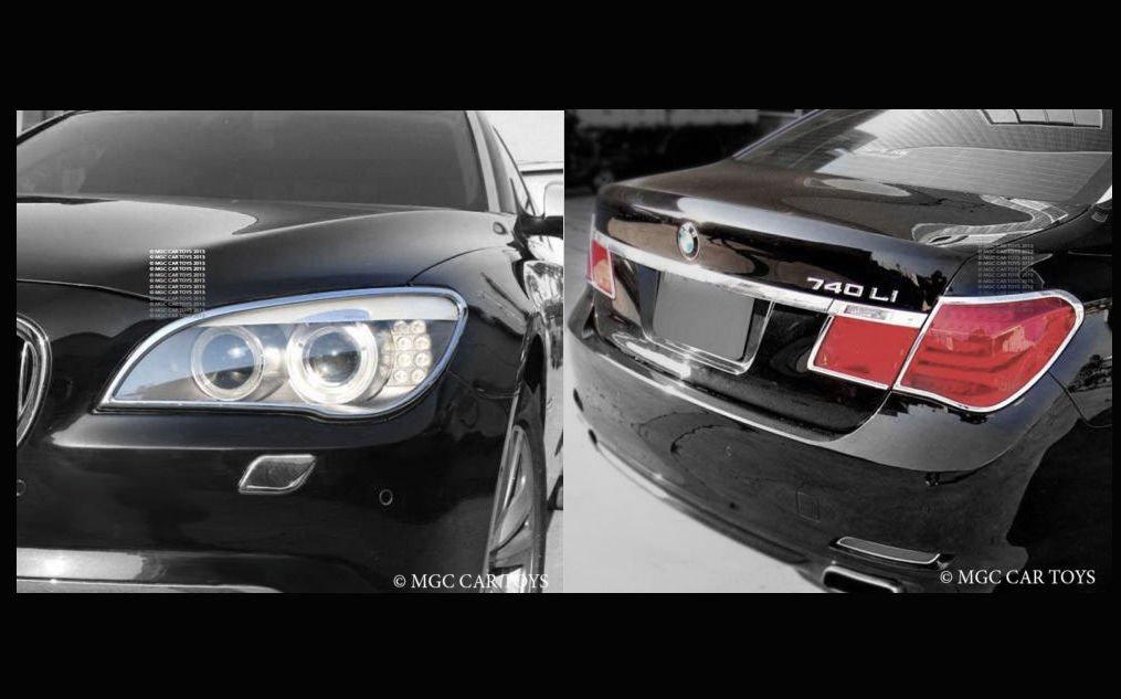 Mina Gallery Headlight /& Taillight chrome pkg 4 pcs for BMW 7 Series F01 2009-Up