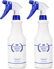 Bealee Plastic Spray Bottle 2 Pack, 24 Oz, All-Purpose Heavy Duty Spraying Bottles Sprayer Leak Proof Mist Empty Water Bottle for Cleaning Solution Planting Pet with Adjustable Nozzle, Blue