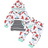 Vincent Girls Clothes Outfits Sloth Hooded Pockets Long Sleeve Tops Pullover Pants Trousers Set