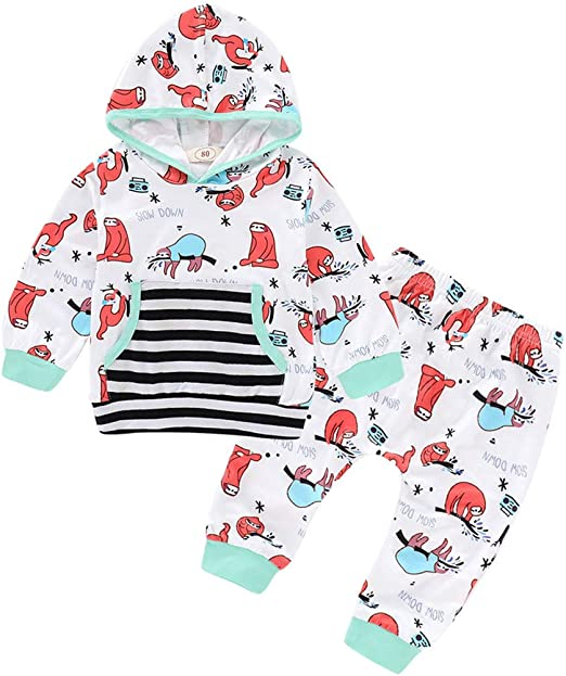 Infant Baby Girl Sloth Print Dress Long Sleeve Party Casual Dresses Kids Clothes