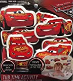 Car3 Cars 3 Disney Pixar Tub Time Activity Bath Set (8) Foam Lightning McQueen Toys
