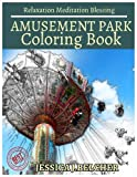 AMUSEMENT PARK Coloring book for Adults Relaxation  Meditation Blessing: Sketches Coloring Book +Free Bonus  Patterns Design