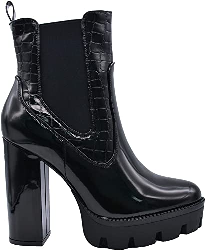 CucuFashion Chelsea Boots Women Chunky