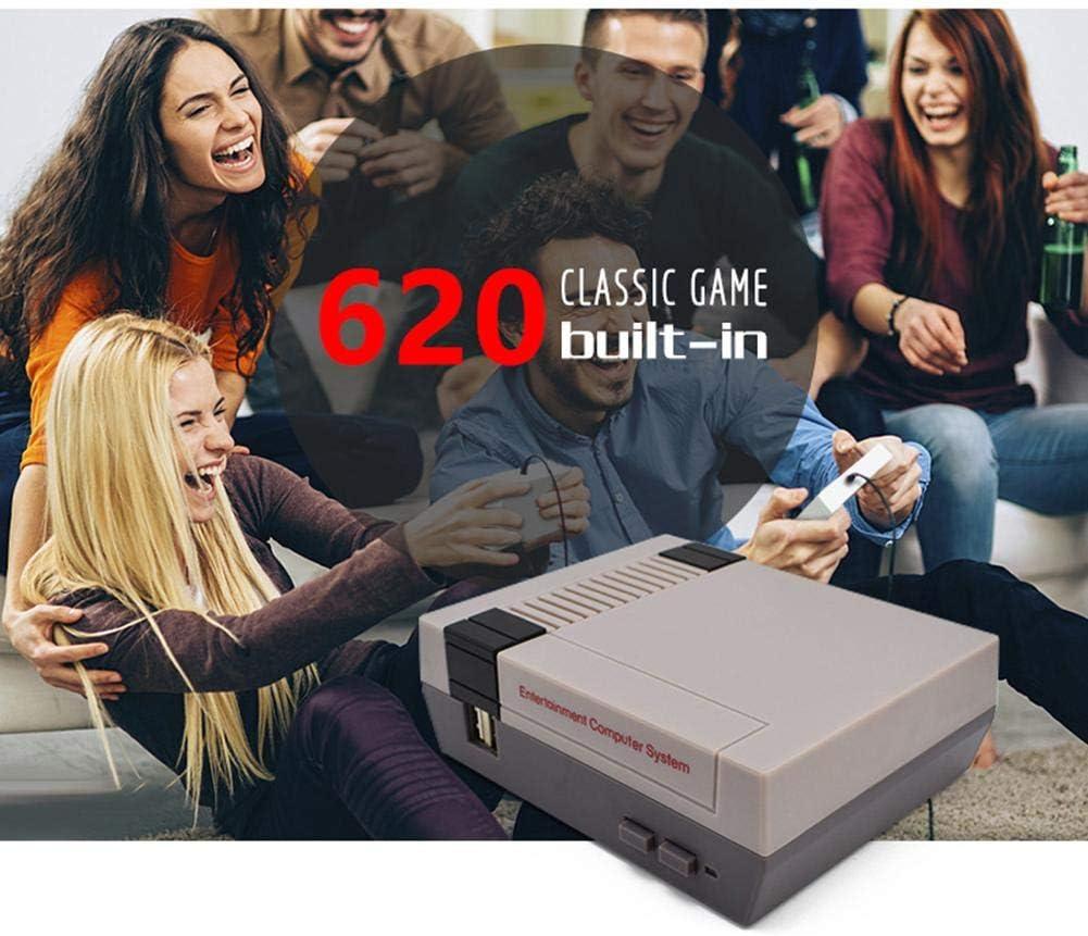 EU NELNISSA Nellnissa Mini TV Handheld Game Console AV 8Bit Gaming Player Built-in 620 Game