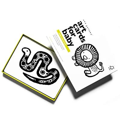 Wee Gallery, Art Cards for Baby, Black and White Baby Cards, 0–12 Months - Jungle Collection: Toys & Games