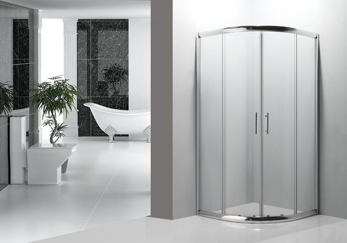CORNER DEEP SHOWER CABIN ENCLOSURE FULL SET 900mm X 900mm QUADRANT, SMALL  BATH: Amazon.co.uk: Kitchen U0026 Home