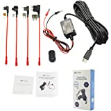 Meknic SV-PC02 Dash Cam Hardwire Fuse Kit with Hard wire Car Charger Cable For Car DVR Camera Power Supply Vehicle Hardwiring Kit GPS Car DVR Power Box-3.5M 11FT Installation Manual Include (Micro USB)