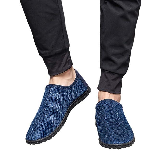 Zapatos de hombre JiaMeng Zapatos de Cuero Casual Casuales Los Zapatos Ahuecan hacia Fuera los Zapatos