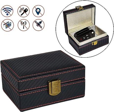 Voiture sans cl/é Blocker Signal,bo/îte de Blocage des signaux Keyless Car Signal Blocker,bloqueur de Signal RFID,Bloqueur de Signal de cl/é de Voiture Bo/îte,Faraday Key Fob Protector Box