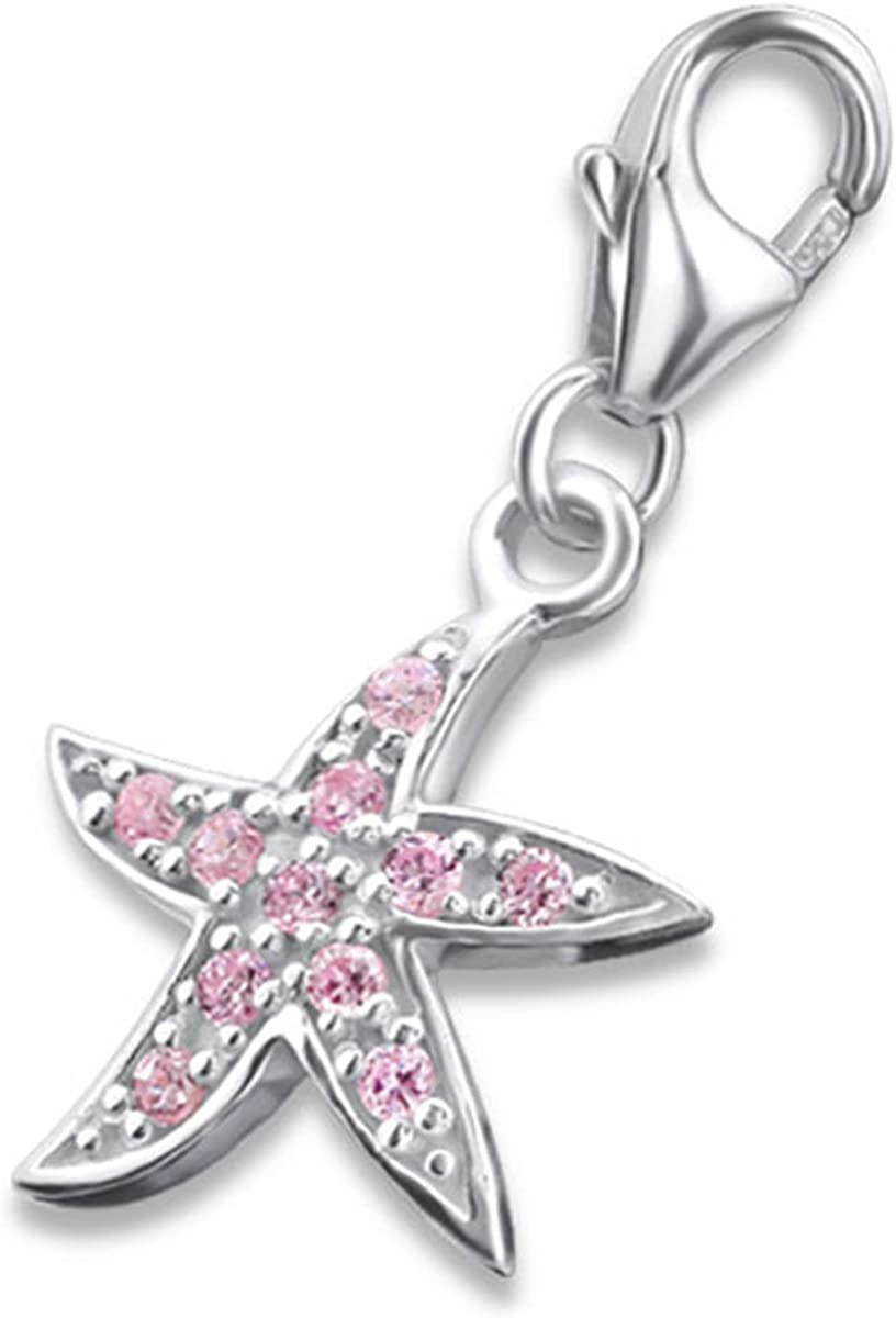 E2806 Necklace Starfish Charm with Lobster for Charms Bracelet Sterling Silver 925