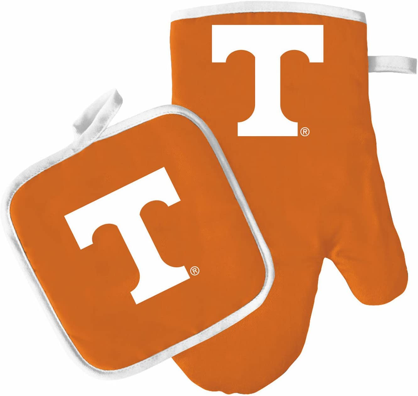 Pro Specialties Group Oven Mitt and Pot Holder Set - Barbeque BBQ Kitchen Backyard Outdoors - NCAA - Tennessee Volunteers
